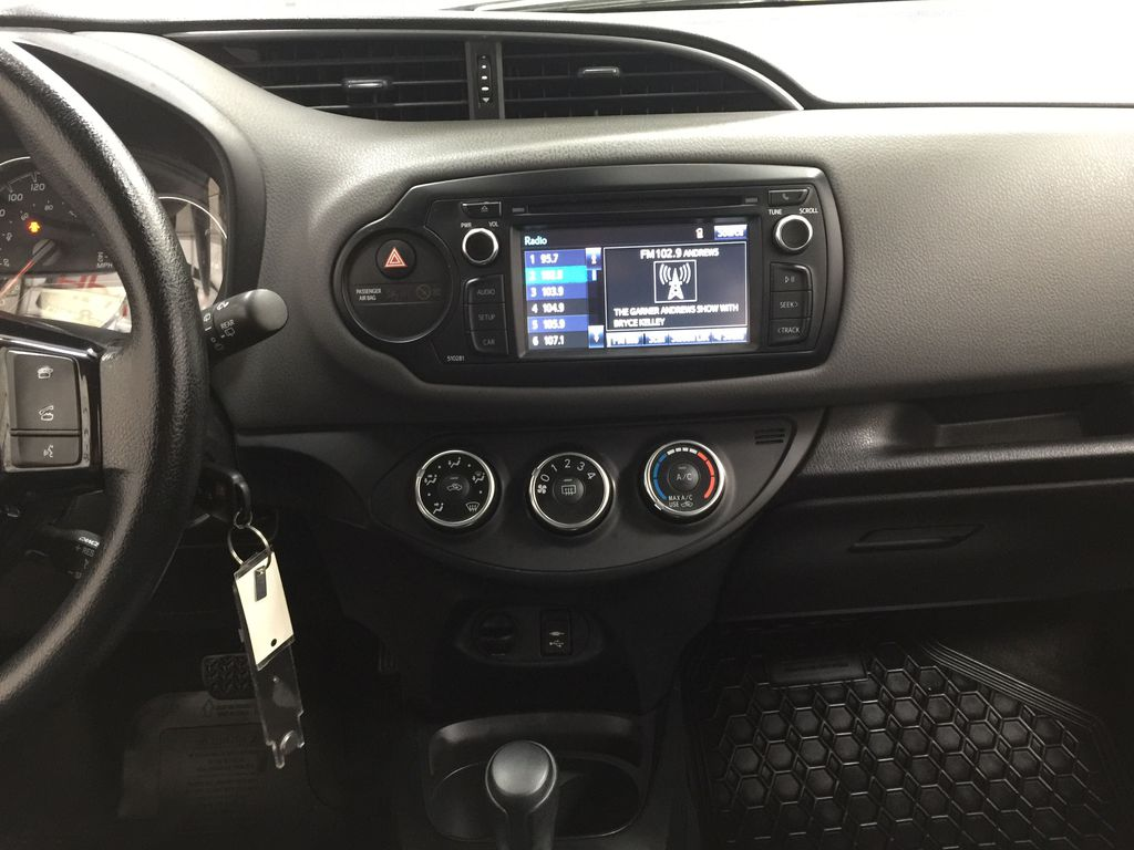 Black[Black Sand Pearl] 2019 Toyota Yaris Hatchback LE / AUTOMATIC Central Dash Options Photo in Sherwood Park AB