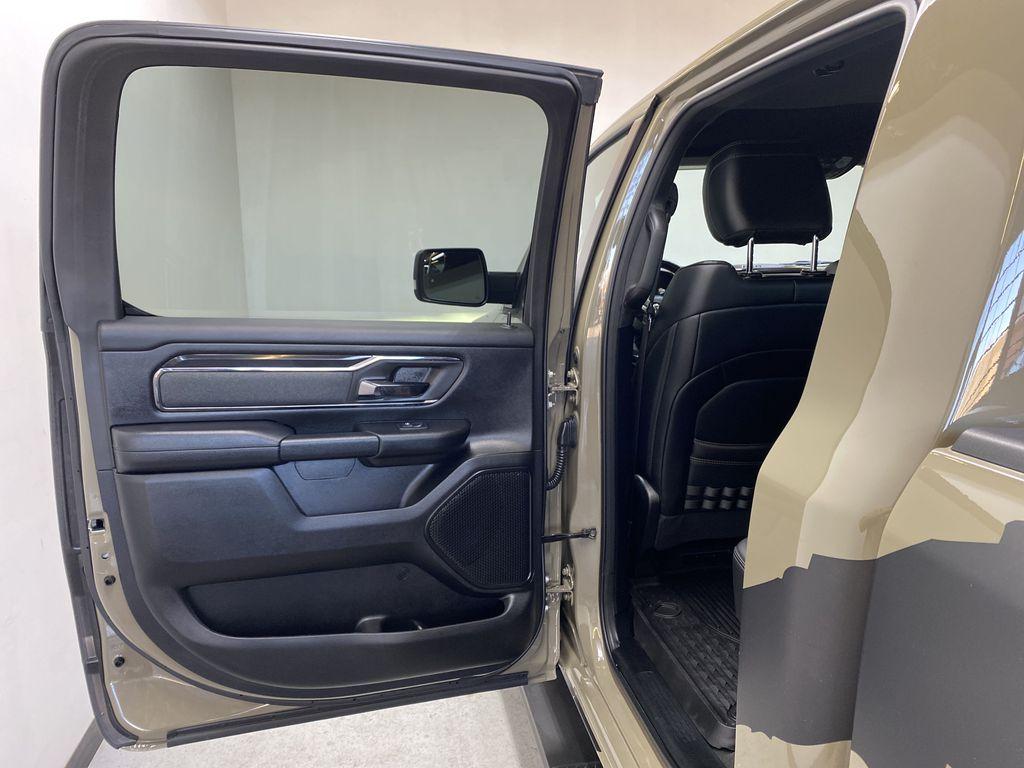"BROWN 2020 Ram 1500 Big Horn ""Built To Serve"" Edition - Remote Start, Navigation, Apple CarPlay Left Rear Interior Door Panel Photo in Edmonton AB"