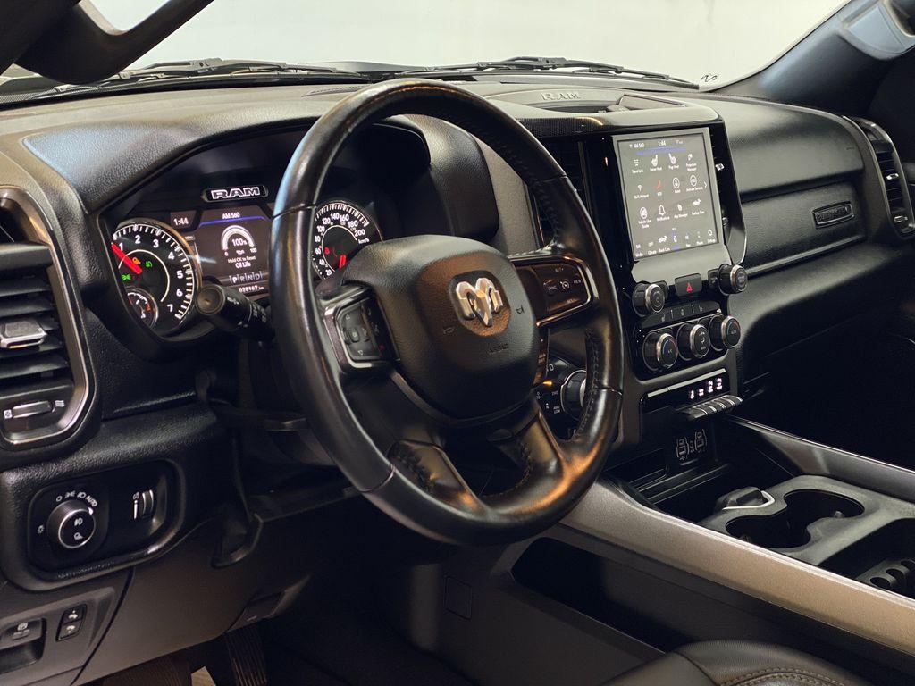 "BROWN 2020 Ram 1500 Big Horn ""Built To Serve"" Edition - Remote Start, Navigation, Apple CarPlay Steering Wheel and Dash Photo in Edmonton AB"