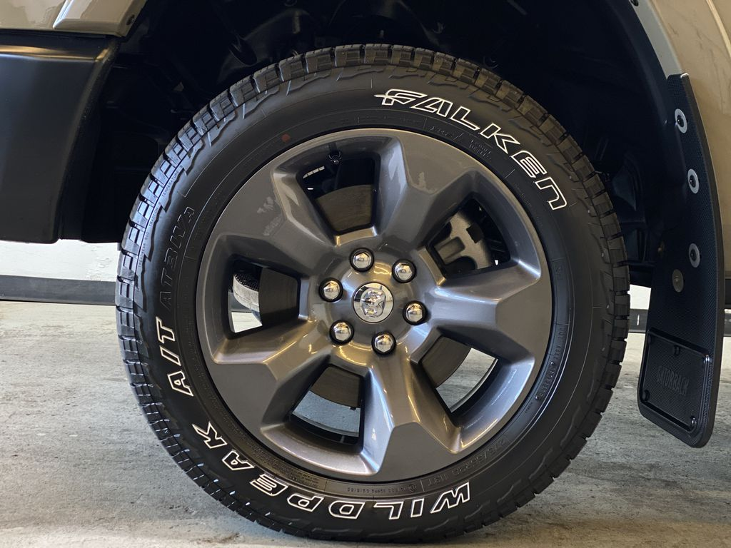 """BROWN 2020 Ram 1500 Big Horn """"Built To Serve"""" Edition - Remote Start, Navigation, Apple CarPlay Left Front Rim and Tire Photo in Edmonton AB"""