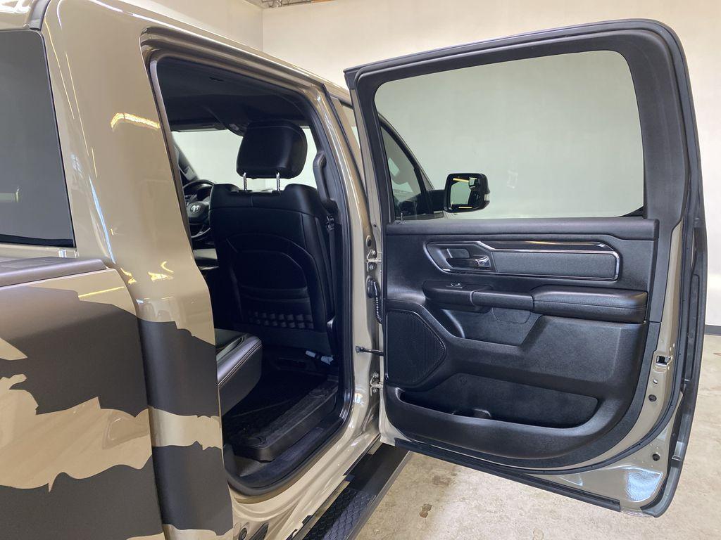 "BROWN 2020 Ram 1500 Big Horn ""Built To Serve"" Edition - Remote Start, Navigation, Apple CarPlay Right Rear Interior Door Panel Photo in Edmonton AB"