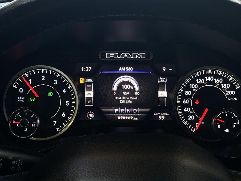 "BROWN 2020 Ram 1500 Big Horn ""Built To Serve"" Edition - Remote Start, Navigation, Apple CarPlay Odometer Photo in Edmonton AB"