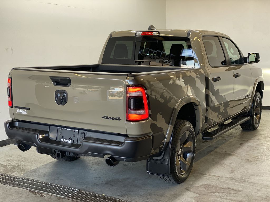 "BROWN 2020 Ram 1500 Big Horn ""Built To Serve"" Edition - Remote Start, Navigation, Apple CarPlay Right Rear Corner Photo in Edmonton AB"