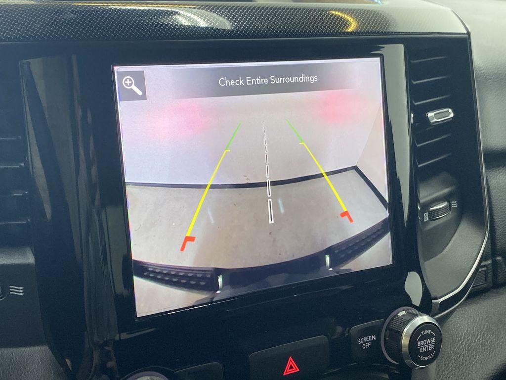 "BROWN 2020 Ram 1500 Big Horn ""Built To Serve"" Edition - Remote Start, Navigation, Apple CarPlay Backup Camera Closeup Photo in Edmonton AB"