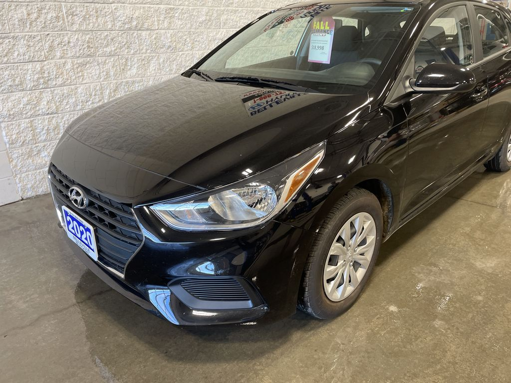 Black[Aurora Black] 2020 Hyundai Accent Left Front Rim and Tire Photo in Belleville ON