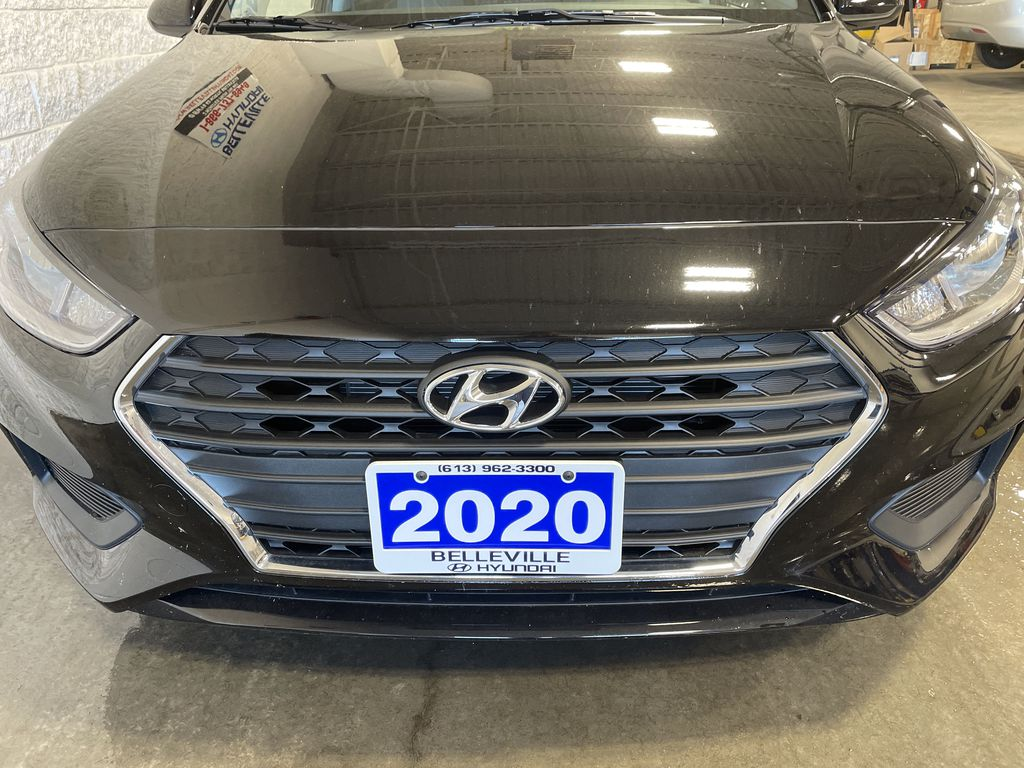 Black[Aurora Black] 2020 Hyundai Accent Left Front Interior Door Panel Photo in Belleville ON