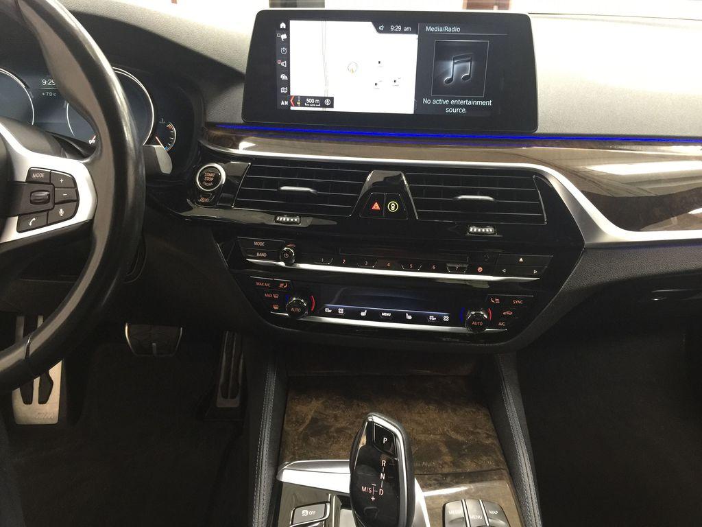 White[Alpine White] 2018 BMW 5 Series 530I XDRIVE Central Dash Options Photo in Sherwood Park AB