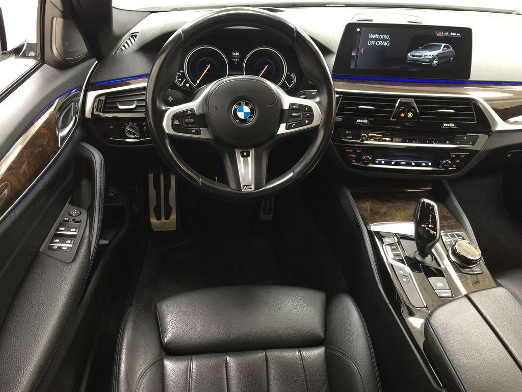 White[Alpine White] 2018 BMW 5 Series 530I XDRIVE Left Front Seat Photo in Sherwood Park AB