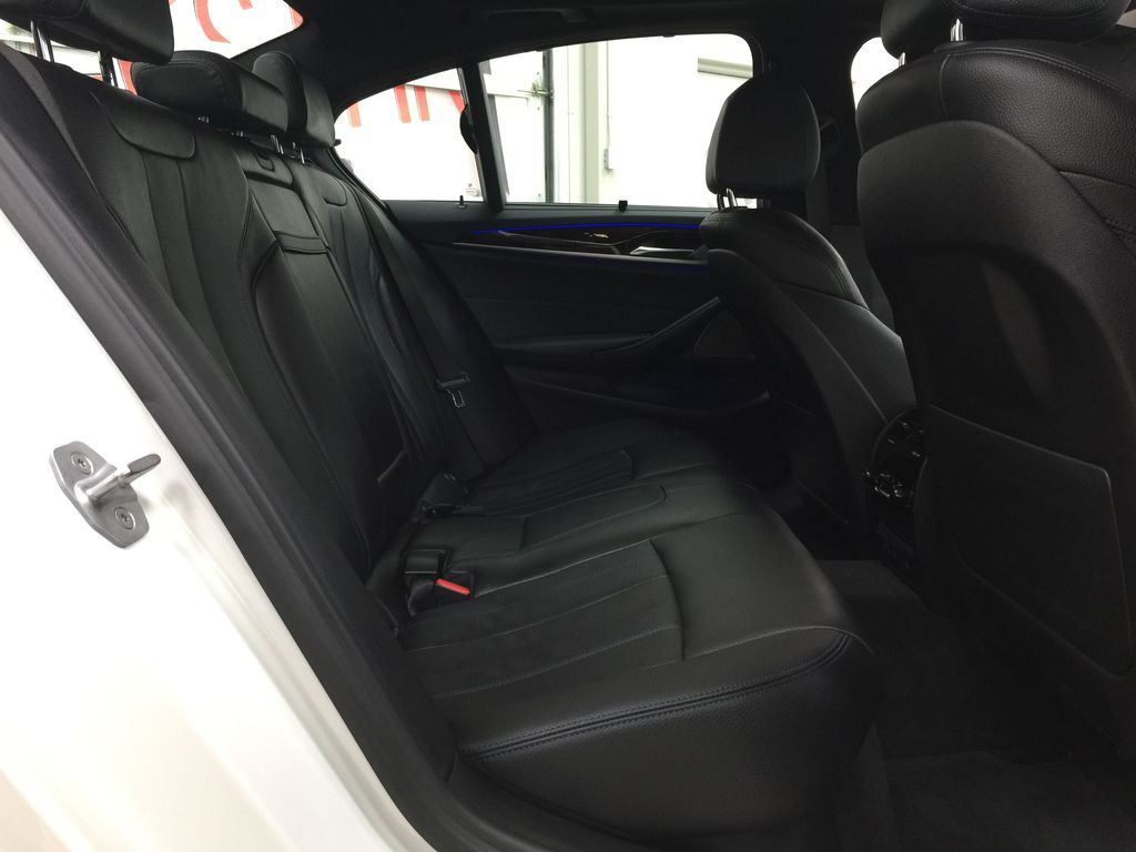 White[Alpine White] 2018 BMW 5 Series 530I XDRIVE Right Side Rear Seat  Photo in Sherwood Park AB