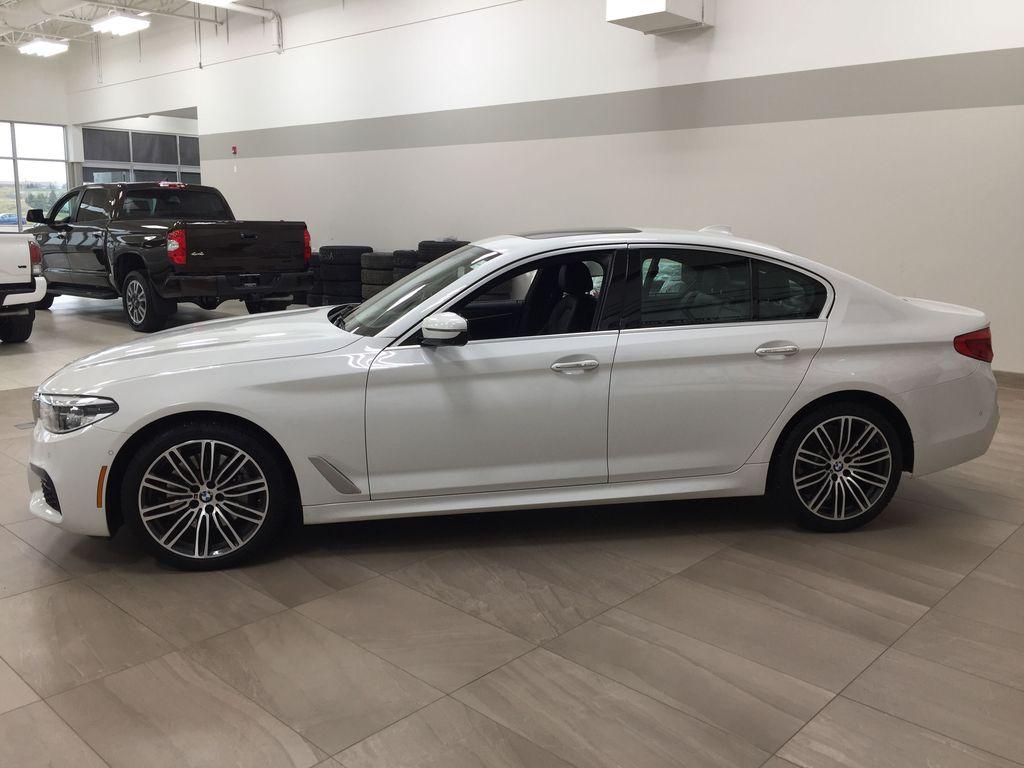 White[Alpine White] 2018 BMW 5 Series 530I XDRIVE Left Side Photo in Sherwood Park AB