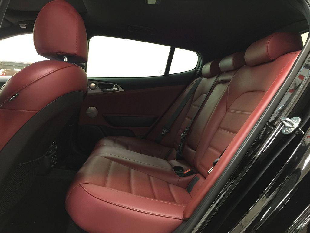 Black[Aurora Black] 2019 Kia Stinger GT2 / LEATHER ROOF Left Side Rear Seat  Photo in Sherwood Park AB