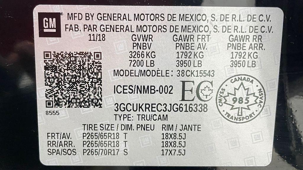 Green 2018 Chevrolet Silverado 1500 LT Z71 4WD - Custom Wrap, Crew, 5.3L DOT Label Photo in Winnipeg MB