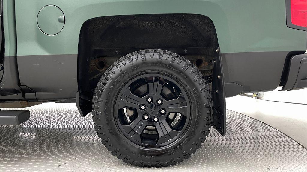 Green 2018 Chevrolet Silverado 1500 LT Z71 4WD - Custom Wrap, Crew, 5.3L Left Rear Rim and Tire Photo in Winnipeg MB