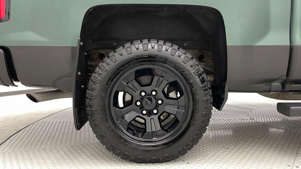 Green 2018 Chevrolet Silverado 1500 LT Z71 4WD - Custom Wrap, Crew, 5.3L Right Rear Rim and Tire Photo in Winnipeg MB