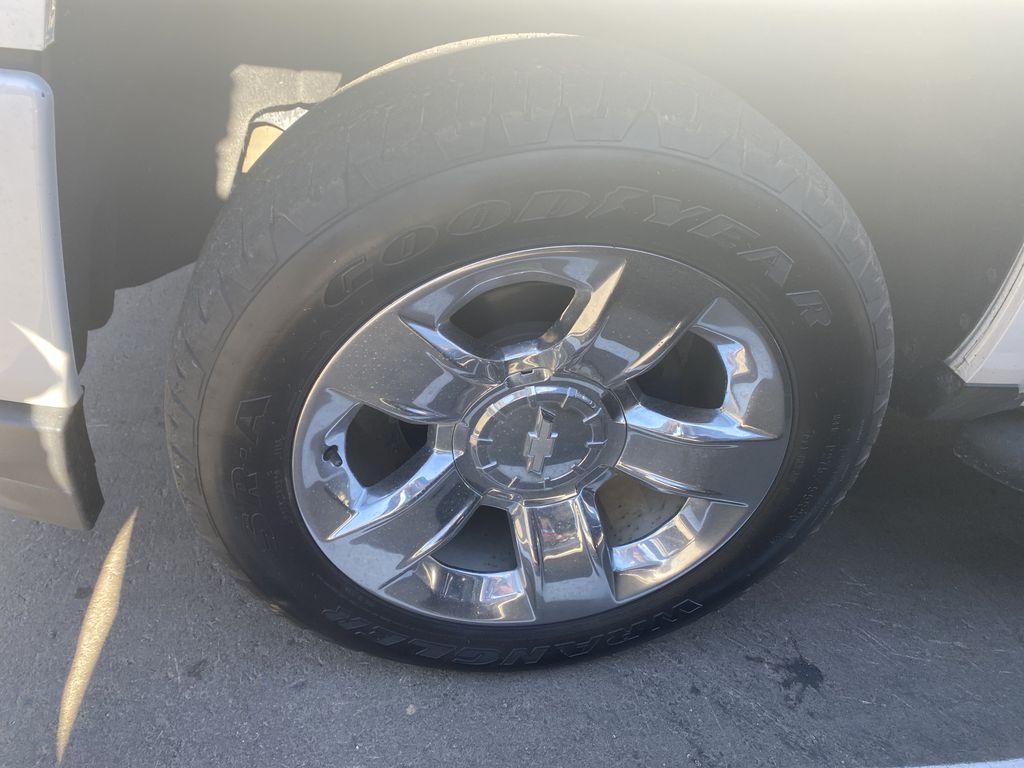 WHITE 2018 Chevrolet Silverado 1500 LTZ 2LZ Left Front Rim and Tire Photo in Edmonton AB