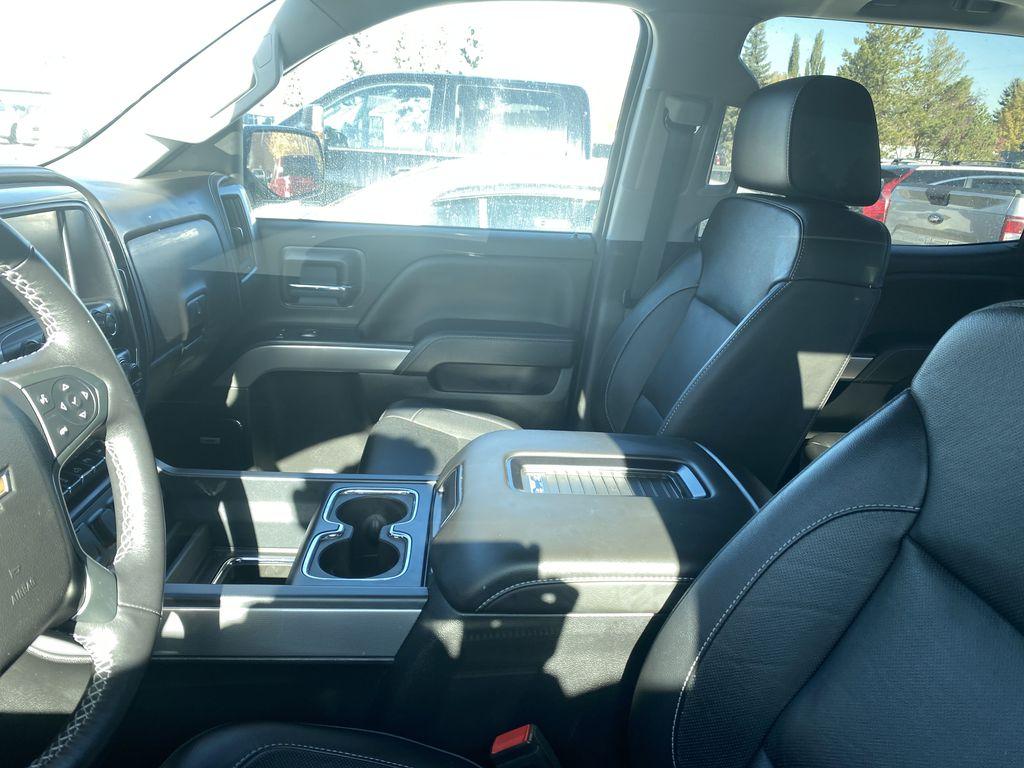 WHITE 2018 Chevrolet Silverado 1500 LTZ 2LZ Left Front Interior Door Panel Photo in Edmonton AB