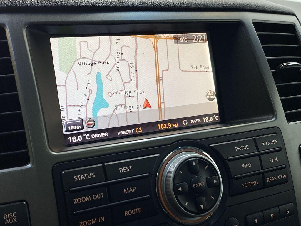 GREY 2012 Nissan Armada Platinum - Backup Camera, Navigation, Remote Start Navigation Screen Closeup Photo in Edmonton AB