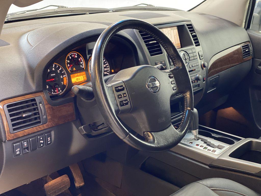 GREY 2012 Nissan Armada Platinum - Backup Camera, Navigation, Remote Start Steering Wheel and Dash Photo in Edmonton AB