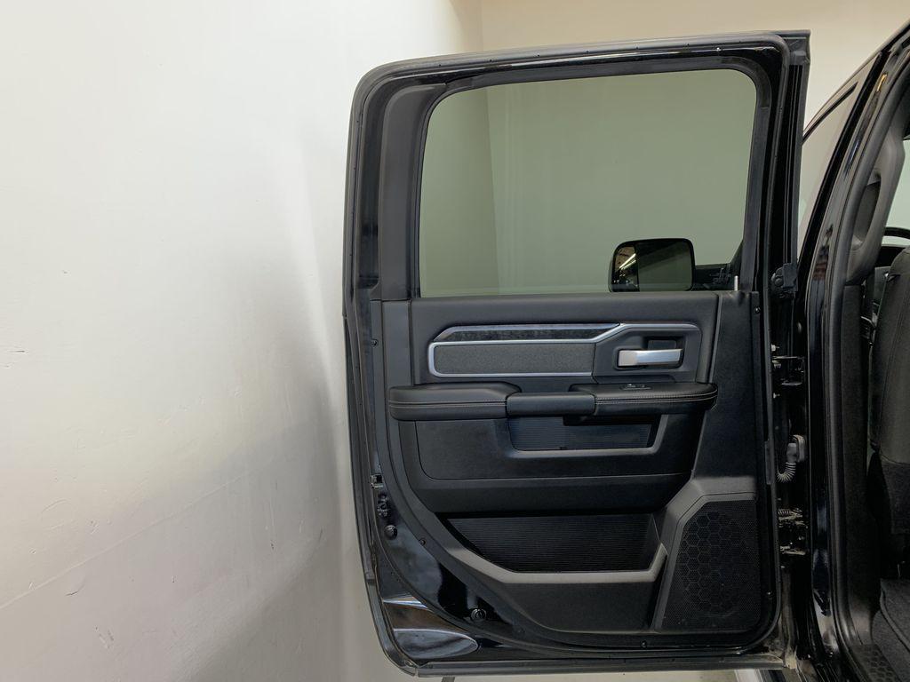 BLACK 2019 Ram 3500 Big Horn - Bluetooth, Remote Start, Backup Cam, Apple CarPlay, XM Left Rear Interior Door Panel Photo in Edmonton AB