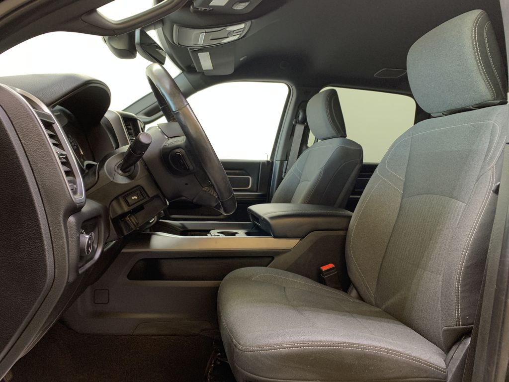 BLACK 2019 Ram 3500 Big Horn - Bluetooth, Remote Start, Backup Cam, Apple CarPlay, XM Left Front Interior Photo in Edmonton AB