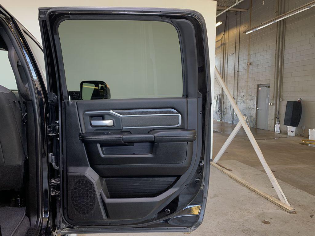 BLACK 2019 Ram 3500 Big Horn - Bluetooth, Remote Start, Backup Cam, Apple CarPlay, XM Right Rear Interior Door Panel Photo in Edmonton AB