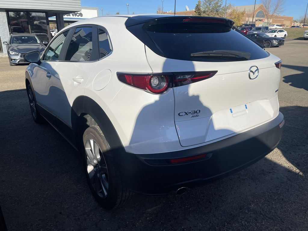 SNOWFLAKE WHITE PEARL 2020 Mazda CX-30 GS-L Left Front Rim and Tire Photo in Edmonton AB