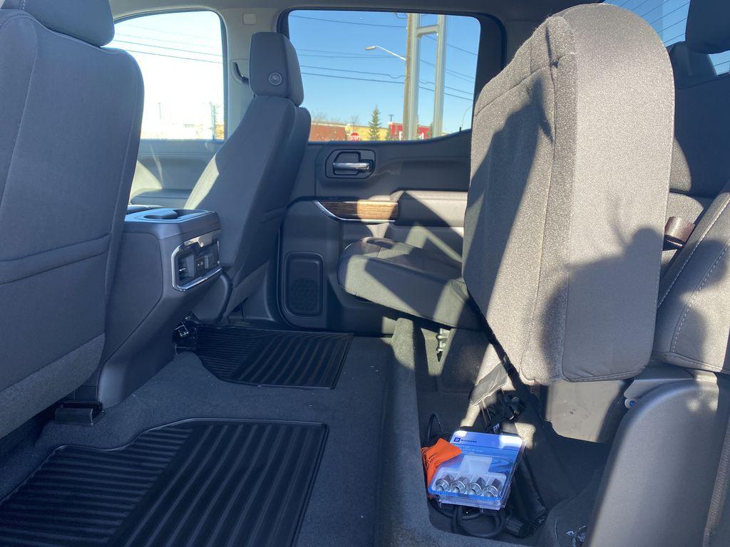 Black[Ebony Twilight Metallic] 2021 GMC Sierra 1500 Rear Seat: Cargo/Storage Photo in Edmonton AB