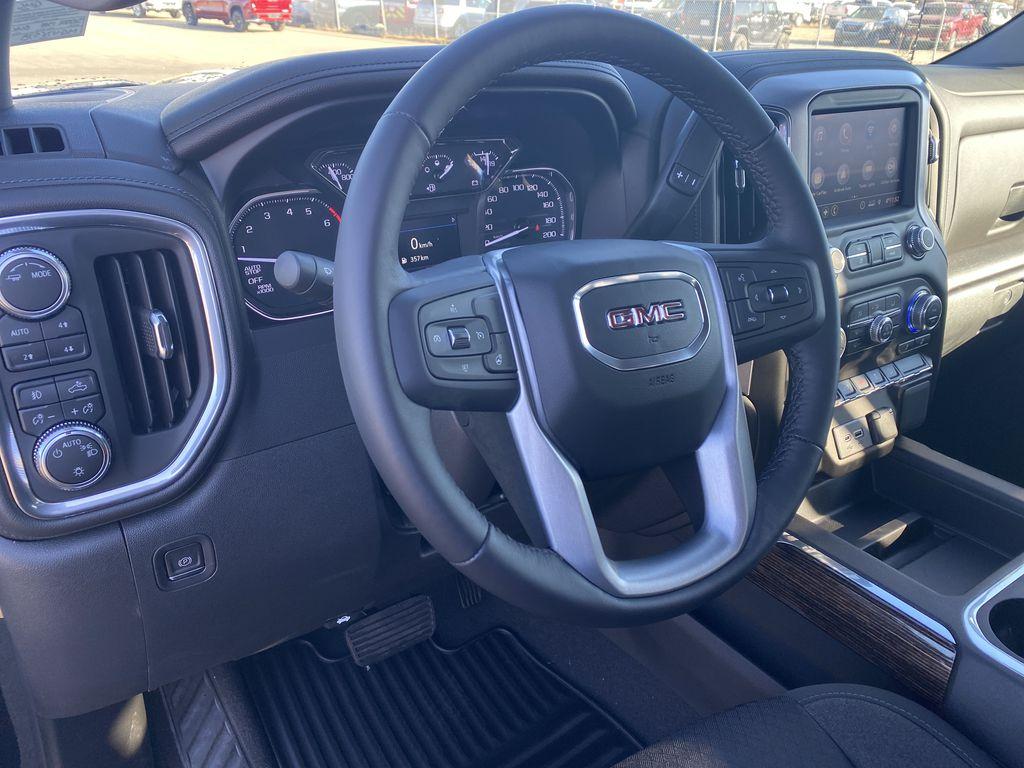 Black[Ebony Twilight Metallic] 2021 GMC Sierra 1500 Steering Wheel and Dash Photo in Edmonton AB