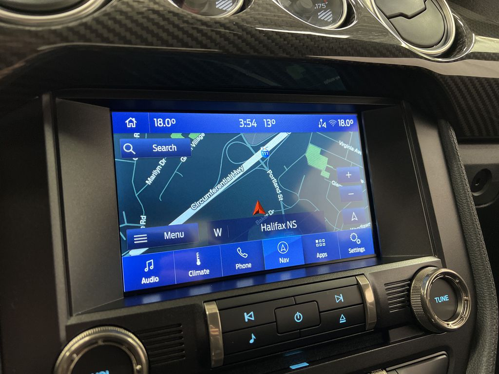 White[Oxford White] 2020 Ford Mustang Navigation Screen Closeup Photo in Dartmouth NS