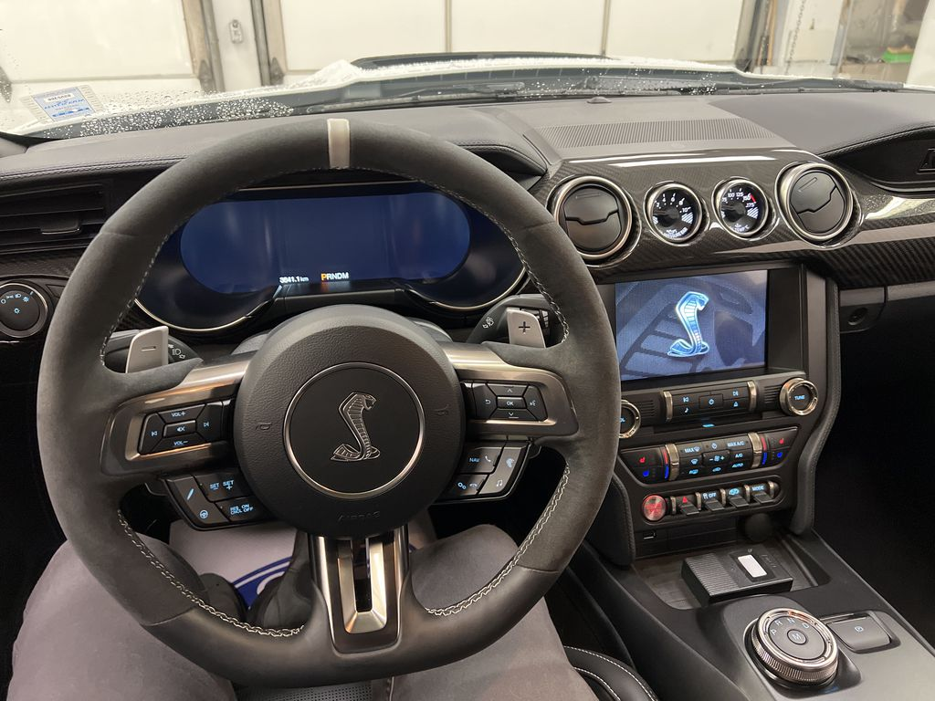 White[Oxford White] 2020 Ford Mustang Steering Wheel and Dash Photo in Dartmouth NS