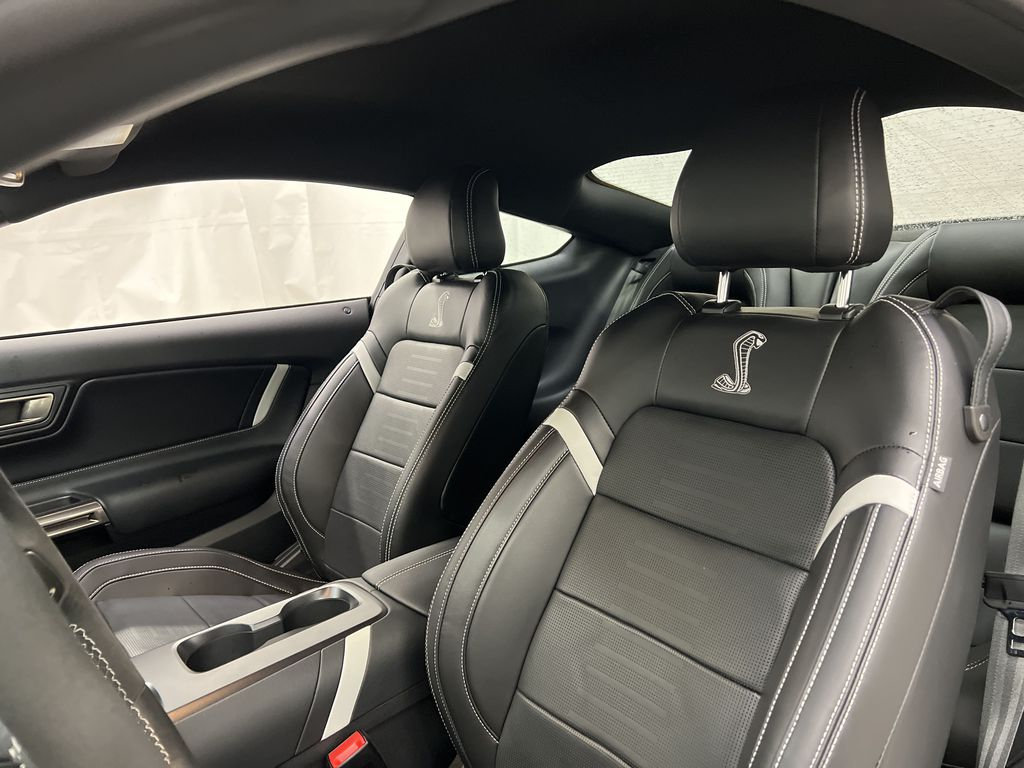 White[Oxford White] 2020 Ford Mustang Left Front Interior Photo in Dartmouth NS