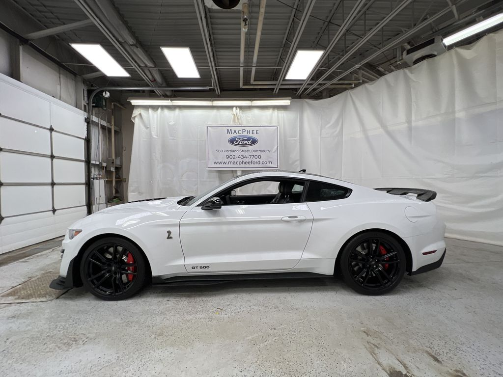 White[Oxford White] 2020 Ford Mustang Left Side Photo in Dartmouth NS