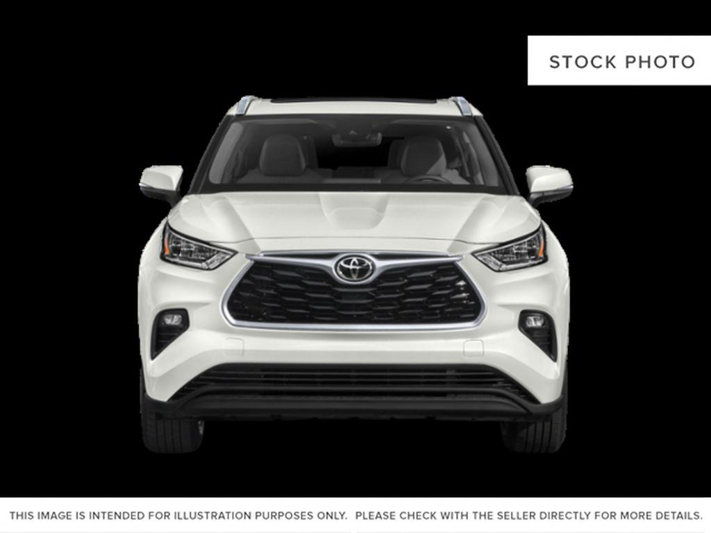 Black[Midnight Black Metallic] 2021 Toyota Highlander Front Vehicle Photo in Kelowna BC