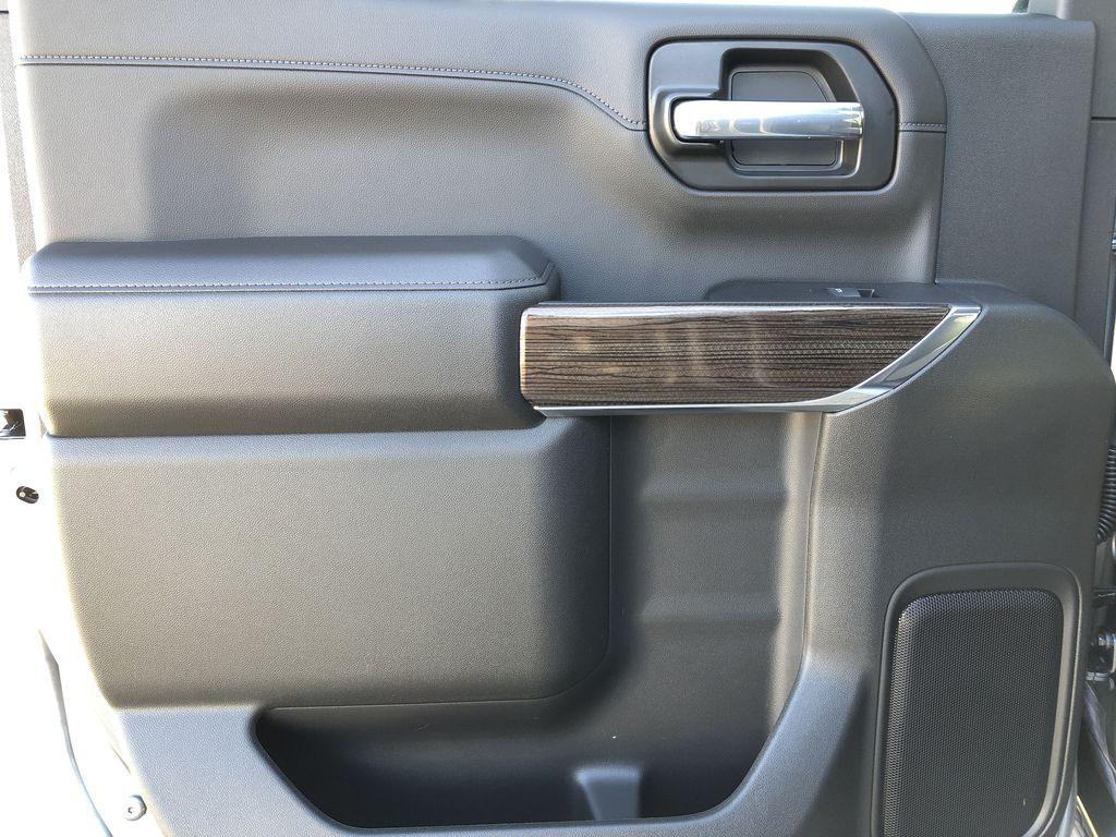 SATIN STEEL GREY METALLIC 2021 Chevrolet Silverado 1500 Left Rear Interior Door Panel Photo in Edmonton AB