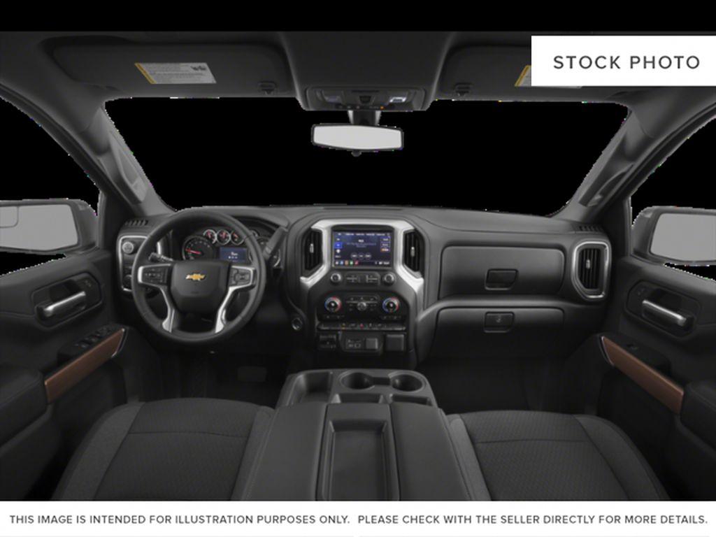 White[Summit White] 2021 Chevrolet Silverado 1500 Central Dash Options Photo in Edmonton AB