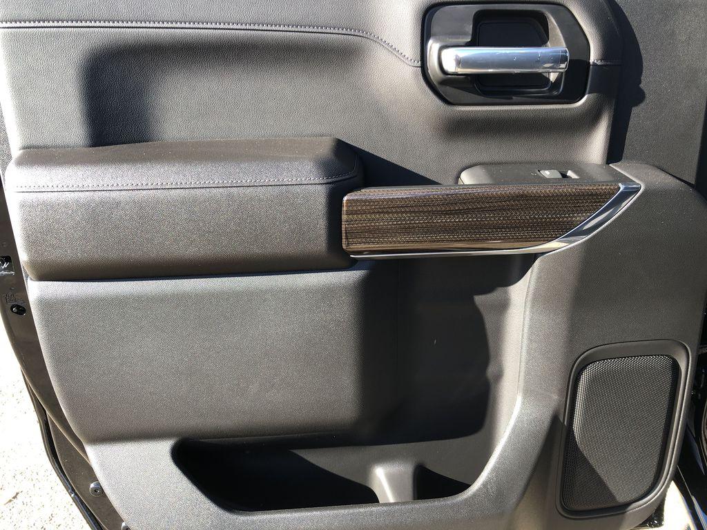 Black[Black] 2021 Chevrolet Silverado 1500 Left Rear Interior Door Panel Photo in Edmonton AB