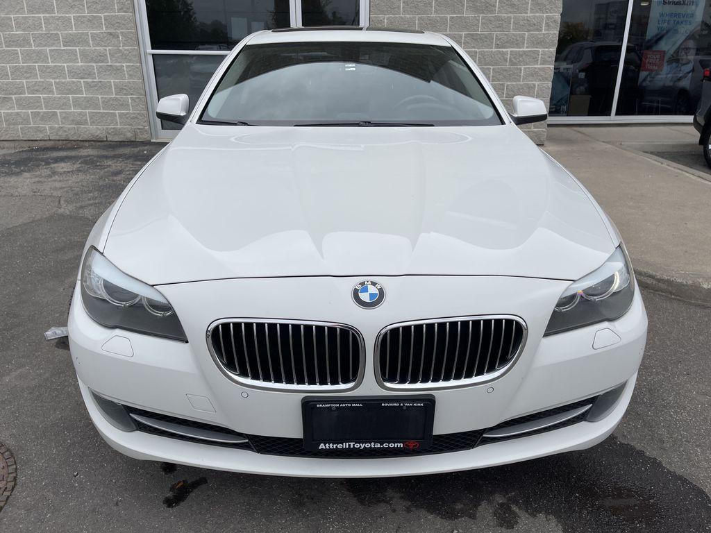 White[Alpine White] 2013 BMW 5 Series Left Side Photo in Brampton ON