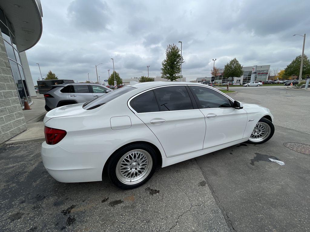 White[Alpine White] 2013 BMW 5 Series Front Vehicle Photo in Brampton ON