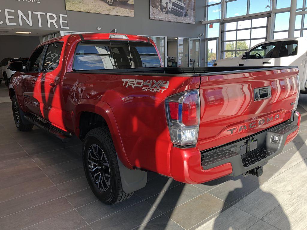 Barcelona Red Metallic 2021 Toyota Tacoma 4WD Double Cab TRD Sport Premium Left Side Photo in Edmonton AB
