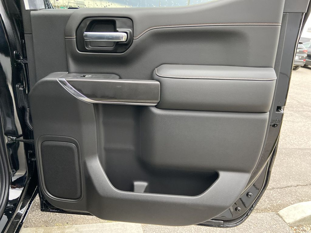 Black[Onyx Black] 2021 GMC Sierra 1500 AT4 Right Rear Interior Door Panel Photo in Calgary AB