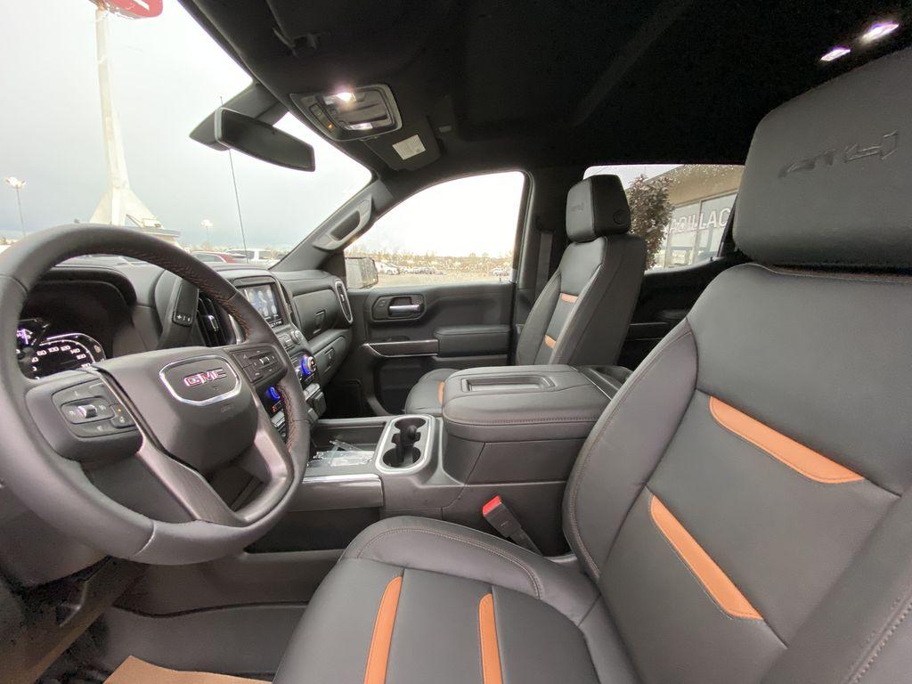 Black[Onyx Black] 2021 GMC Sierra 1500 AT4 Left Front Interior Photo in Calgary AB