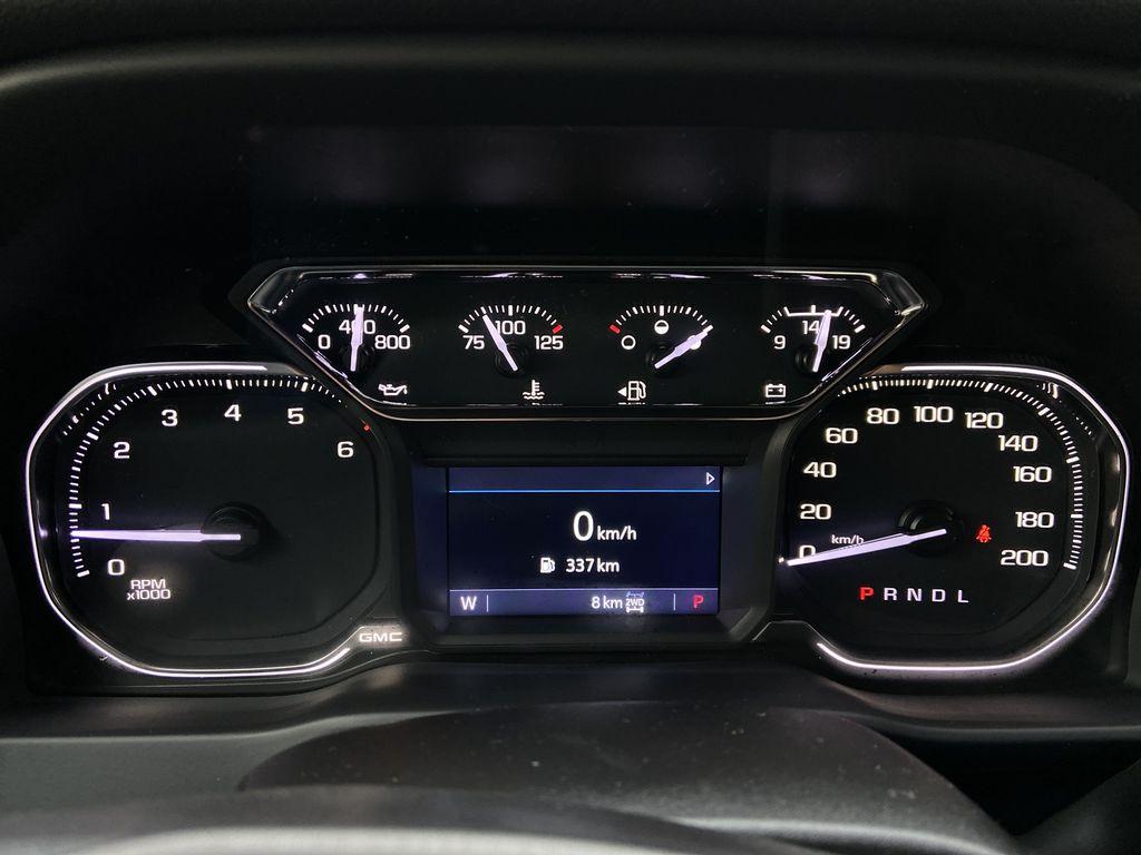 Black[Onyx Black] 2021 GMC Sierra 1500 AT4 Odometer Photo in Calgary AB