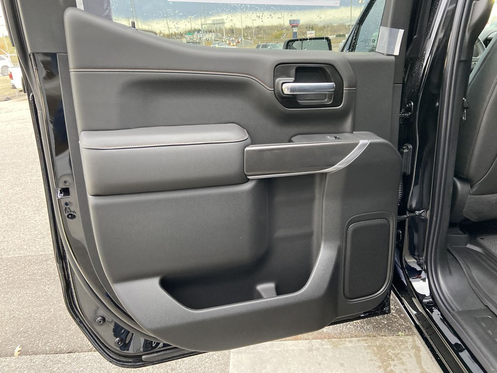 Black[Onyx Black] 2021 GMC Sierra 1500 AT4 Left Rear Interior Door Panel Photo in Calgary AB