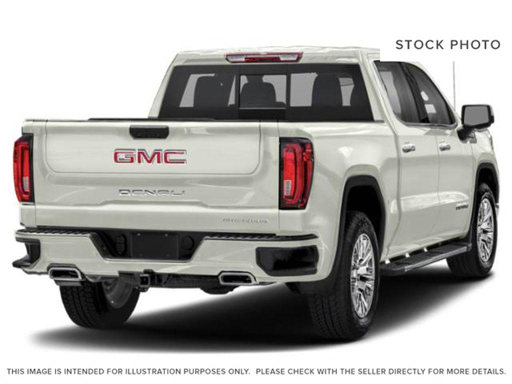 White[White Frost Tricoat] 2021 GMC Sierra 1500 Denali Right Rear Corner Photo in Calgary AB