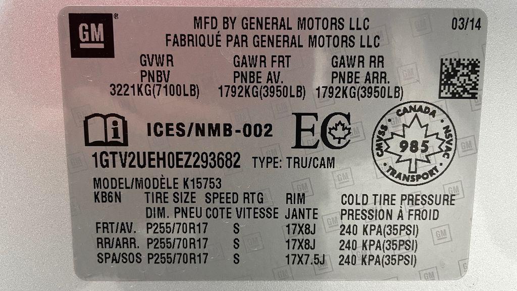Silver[Quicksilver Metallic] 2014 GMC Sierra 1500 SLE 4WD - Double Cab, V6, Black Alloys DOT Label Photo in Winnipeg MB