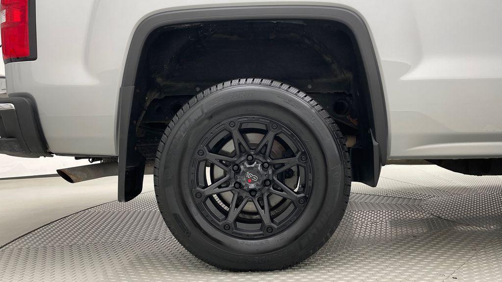 Silver[Quicksilver Metallic] 2014 GMC Sierra 1500 SLE 4WD - Double Cab, V6, Black Alloys Right Rear Rim and Tire Photo in Winnipeg MB