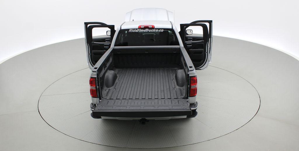 Silver[Quicksilver Metallic] 2014 GMC Sierra 1500 SLE 4WD - Double Cab, V6, Black Alloys Rear of Vehicle Photo in Winnipeg MB