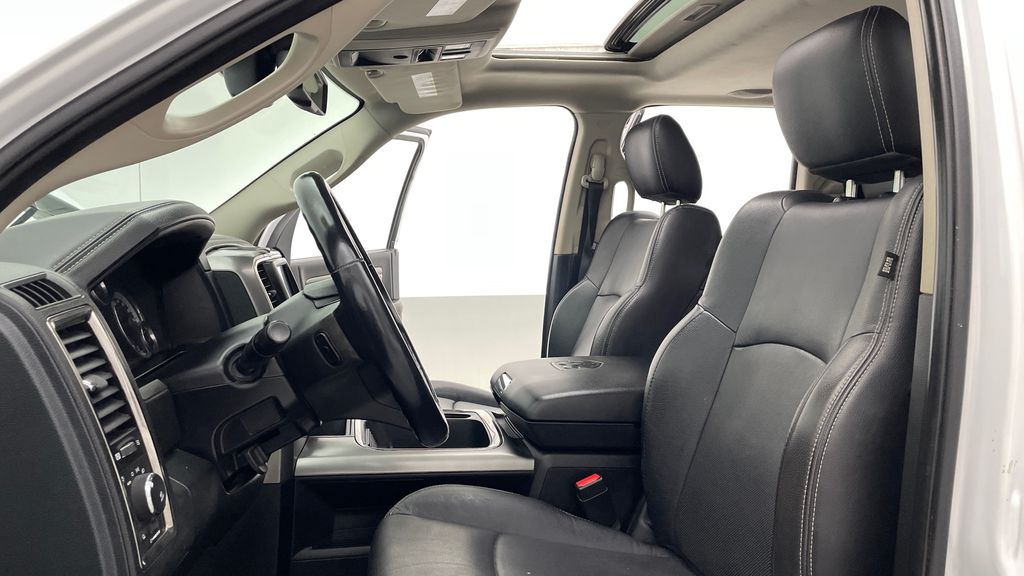 White[Bright White] 2015 Ram 1500 Sport 4WD - Lifted, NAV, Leather, Sunroof Left Front Interior Photo in Winnipeg MB