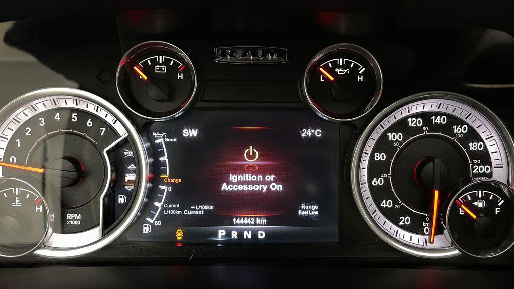 White[Bright White] 2015 Ram 1500 Sport 4WD - Lifted, NAV, Leather, Sunroof Odometer Photo in Winnipeg MB