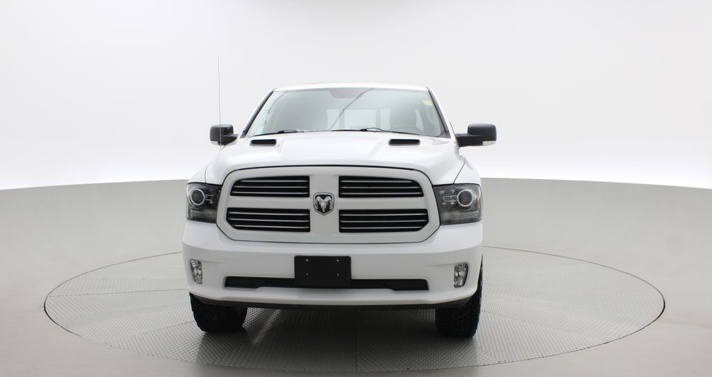 White[Bright White] 2015 Ram 1500 Sport 4WD - Lifted, NAV, Leather, Sunroof Front Vehicle Photo in Winnipeg MB
